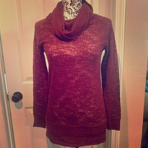 NWT See-through Loft Sweater with Cowl Neck